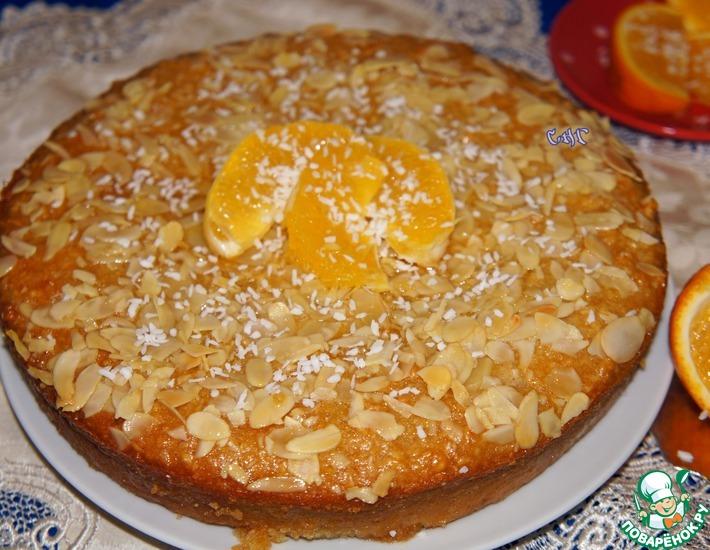 Рецепт: Африканский пирог с кокосом и апельсином