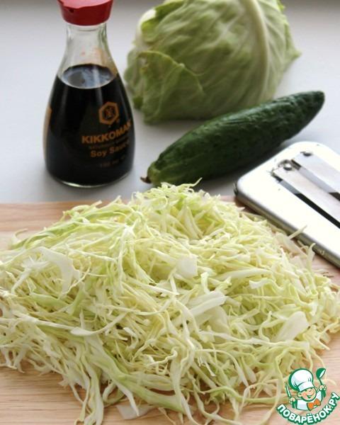 Салат капуста с огурцом консервирование