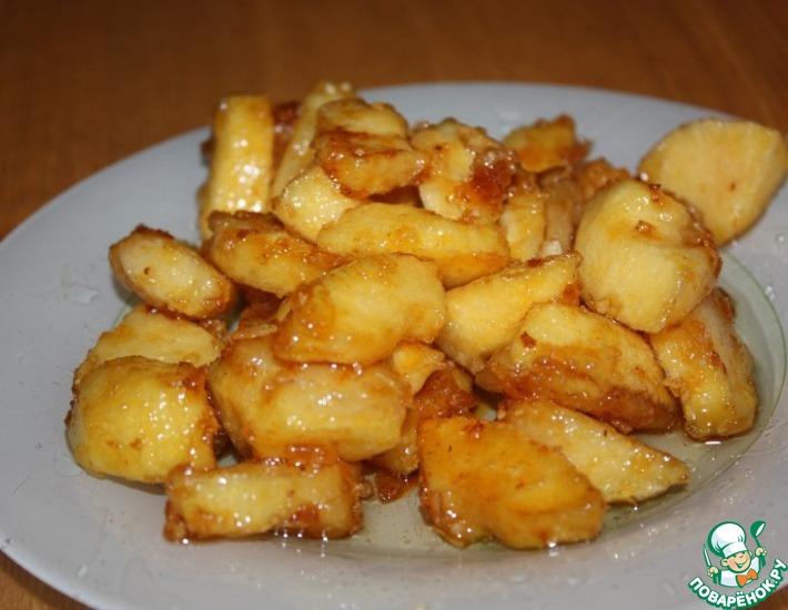 Корзиночки с яблоками в карамели – кулинарный рецепт