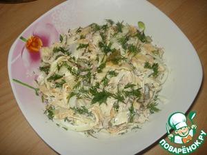 Mix all ingredients, add salt, mayonnaise.