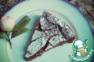 Рецепт: Шоколадный торт без муки