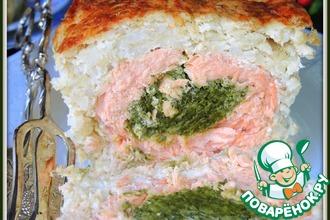 Рецепт: Рыбно-рисовый рулет со шпинатом