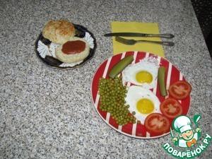 """Подаем к ужину, обеду, завтраку, делаем """"сэндвичи"""" с зеленью, различными паштетами, с соусами, вместо хлеба. Сегодня я на ужин подаю с глазуньей. А можно просто со стаканом томатного сока."""