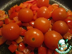 Tomatoes to wash and send it to pepper. Simmer a few minutes.