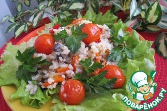 Рецепт: Рис с грибами и овощами