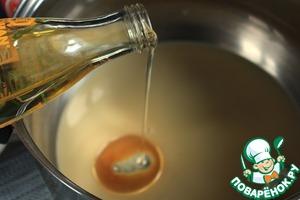Add 3 tbsp. of sunflower oil. Mix well.