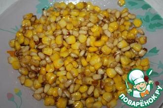 Рецепт: Кукуруза с кедровыми орехами