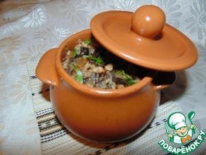 Достать горшочки из духовки, перемешать содержимое и посыпать зеленью. Приятного аппетита! Поститесь постом приятным!