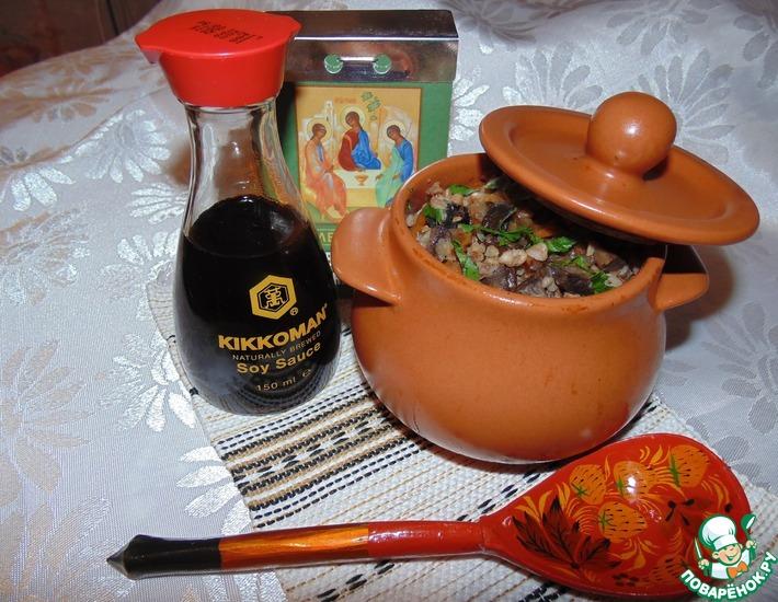 Рецепт: Гречка по-монастырски с соевым соусом