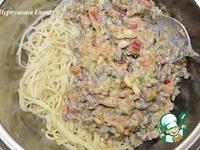 Спагетти по-флотски с кедровыми орешками ингредиенты