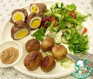 Я подавала с салатом и печеным молодым картофелем с розмарином.
