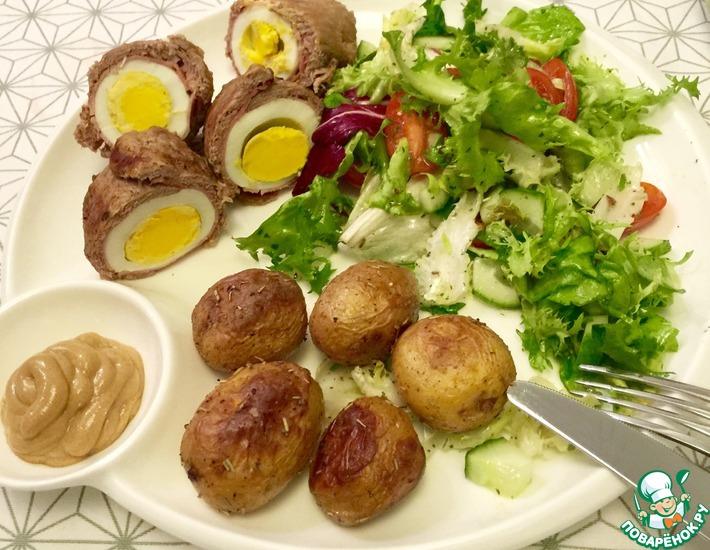 Рецепт: Телятина с яйцом и сыром