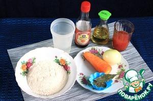 Ингредиенты, которые потребуются для приготовления галушек с майораном. Томаты в собственном соку или консервированные протереть через сито. Очистить лук и морковь.