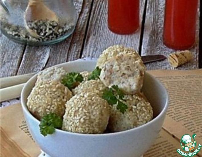Рецепт: Мясные шарики с гречкой