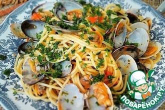 Рецепт: Спагетти с моллюсками