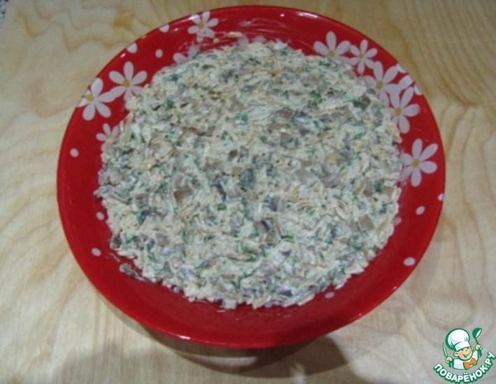 Рецепт: Простой грибной салат