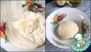 To prepare dumplings dough from water at room temperature and sifted wheat flour.