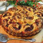 Клюквенные булочки-пирог