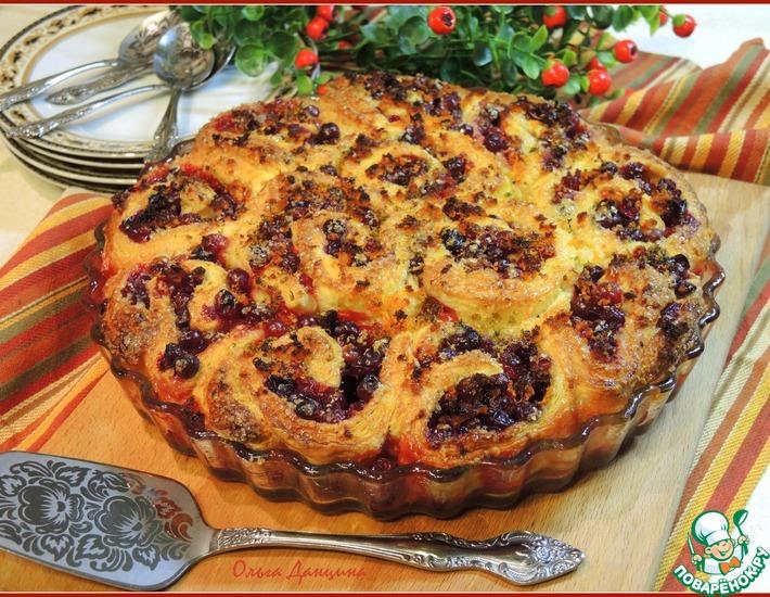 Рецепт: Клюквенные булочки-пирог