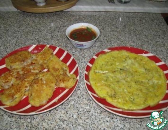 Рецепт: Треска в кляре из кус-куса и яиц