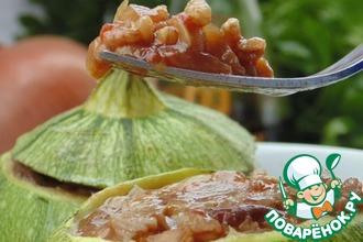 Рецепт: Цуккини, фаршированные полбой и грибами
