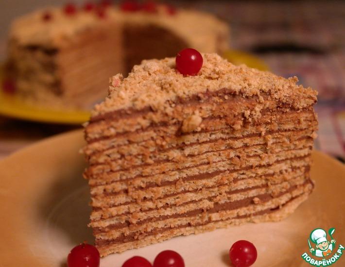Рецепт: Вафельный торт диетический