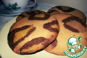 Рецепт: Леопардовое печенье