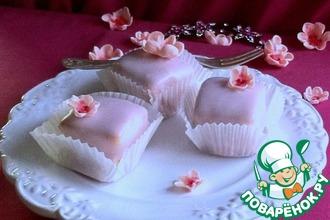 Рецепт: Пирожные с сахарной помадкой