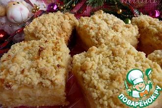 Рецепт: Штрейзельные пирожные с творожно-пудинговой начинкой