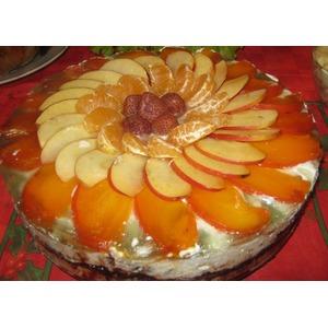 Торт без выпечки Зимняя сказка