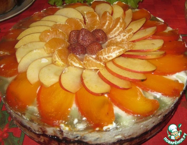 Рецепт: Торт без выпечки Зимняя сказка