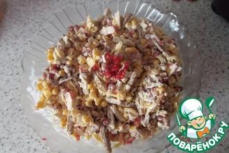 Рецепт: Салат Гранатовый с сухариками
