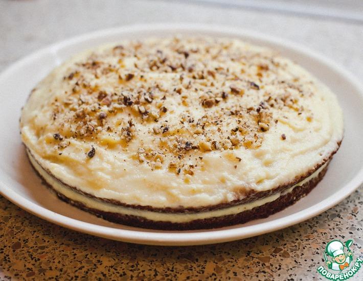 Рецепт: Торт с заварным кремом и орехами