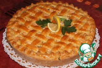 Рецепт: Пирог с форелью и сыром