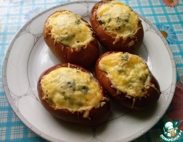 Рецепт: Яичница в булочке