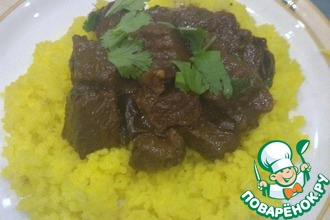 Рецепт: Говядина с черносливом по-мароккански