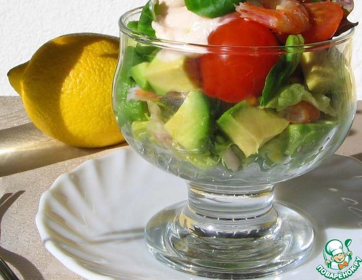 Рецепт: Салат-коктейль с креветками