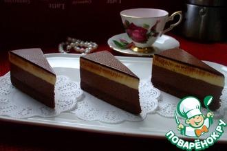Рецепт: Торт Шоколад-маракуйя