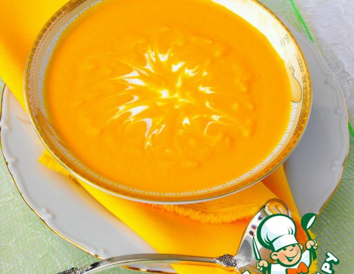 Рецепт: Морковный суп-пюре с имбирeм