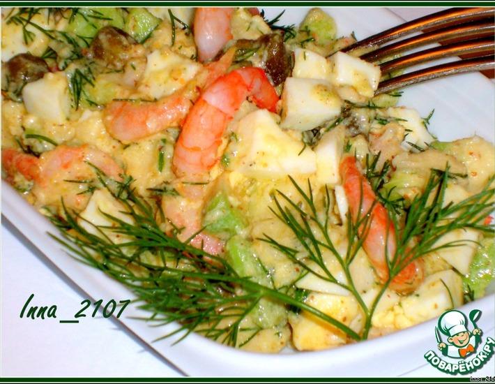 Рецепт: Салат из авокадо с креветками