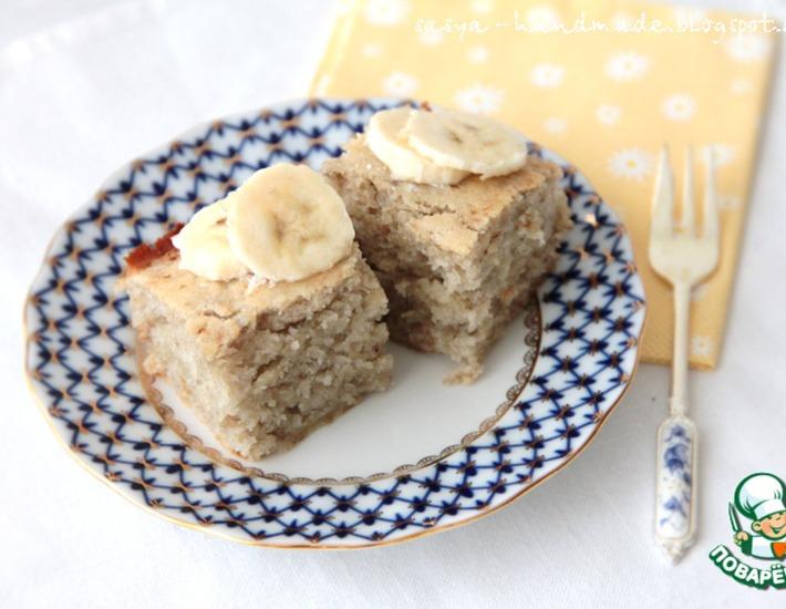 Рецепт: Банановый бисквит-кекс