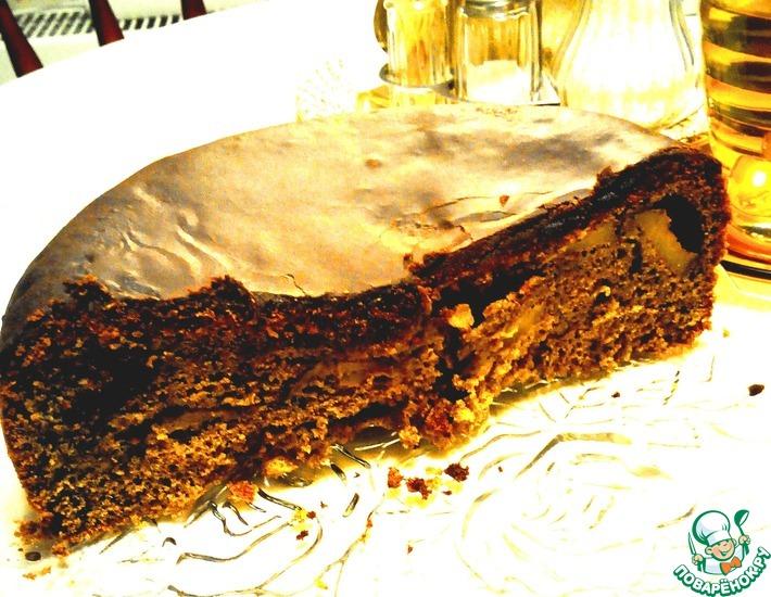 Рецепт: Кофейно-фруктовый пирог в мультиварке