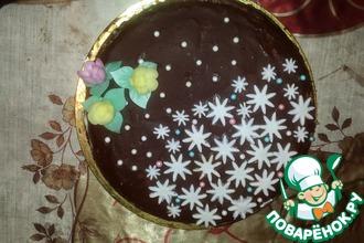 Рецепт: Бисквитный торт с грецкими орехами