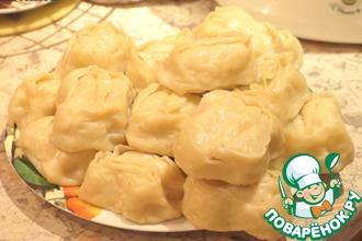 Рецепт: Узбекские манты с фаршем из индейки