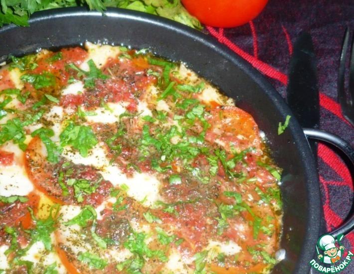 Рецепт: Сулугуни, запеченный с помидорами