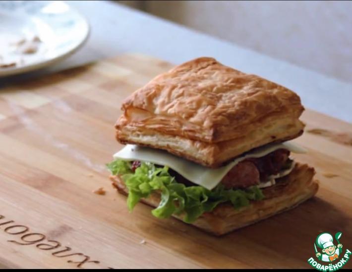 Рецепт: Слоёный сэндвич