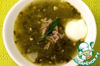 Рецепт: Щавелевый суп с мясом