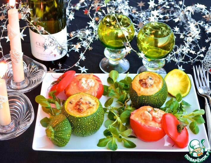 Рецепт: Жульены в запечённых овощах