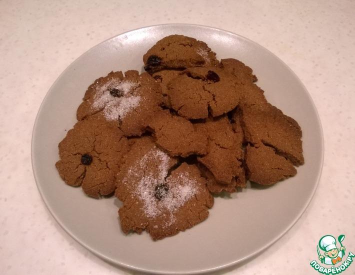 Рецепт: Гречневое постное печенье для кормящих мам