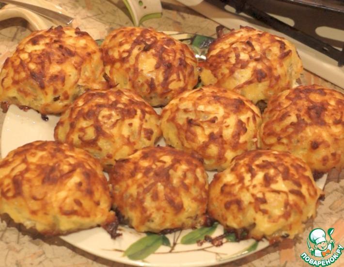 Рецепт: Вкуснейшие Лысые ёжики из фарша